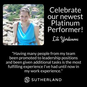Lili Yordanova Sutherland Platinum Performer