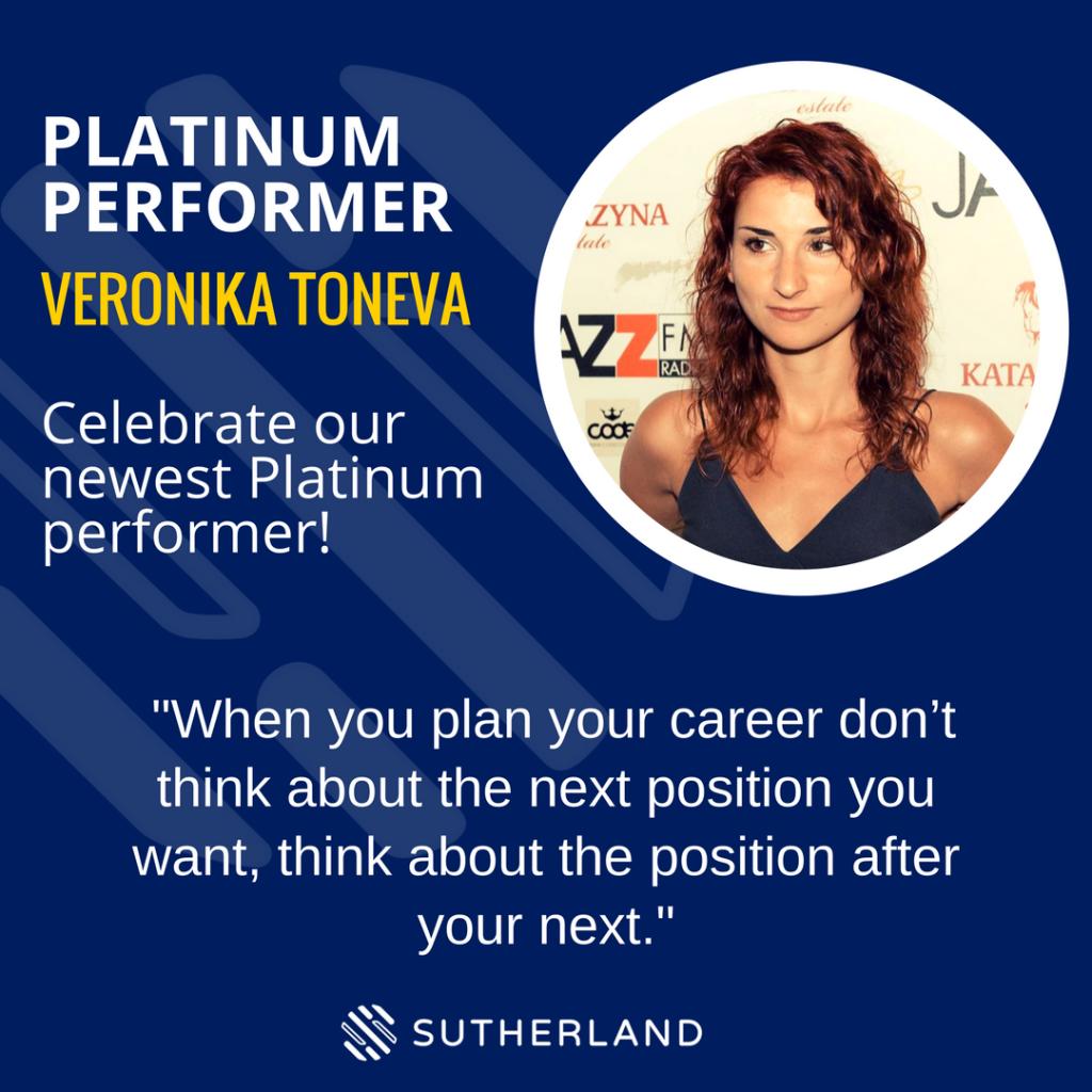 Platinum Performer-Bulgaria - Veronika Toneva- Sutherland