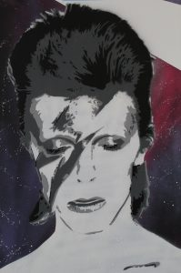 David Bowie's portrait at Sutherland Sofia