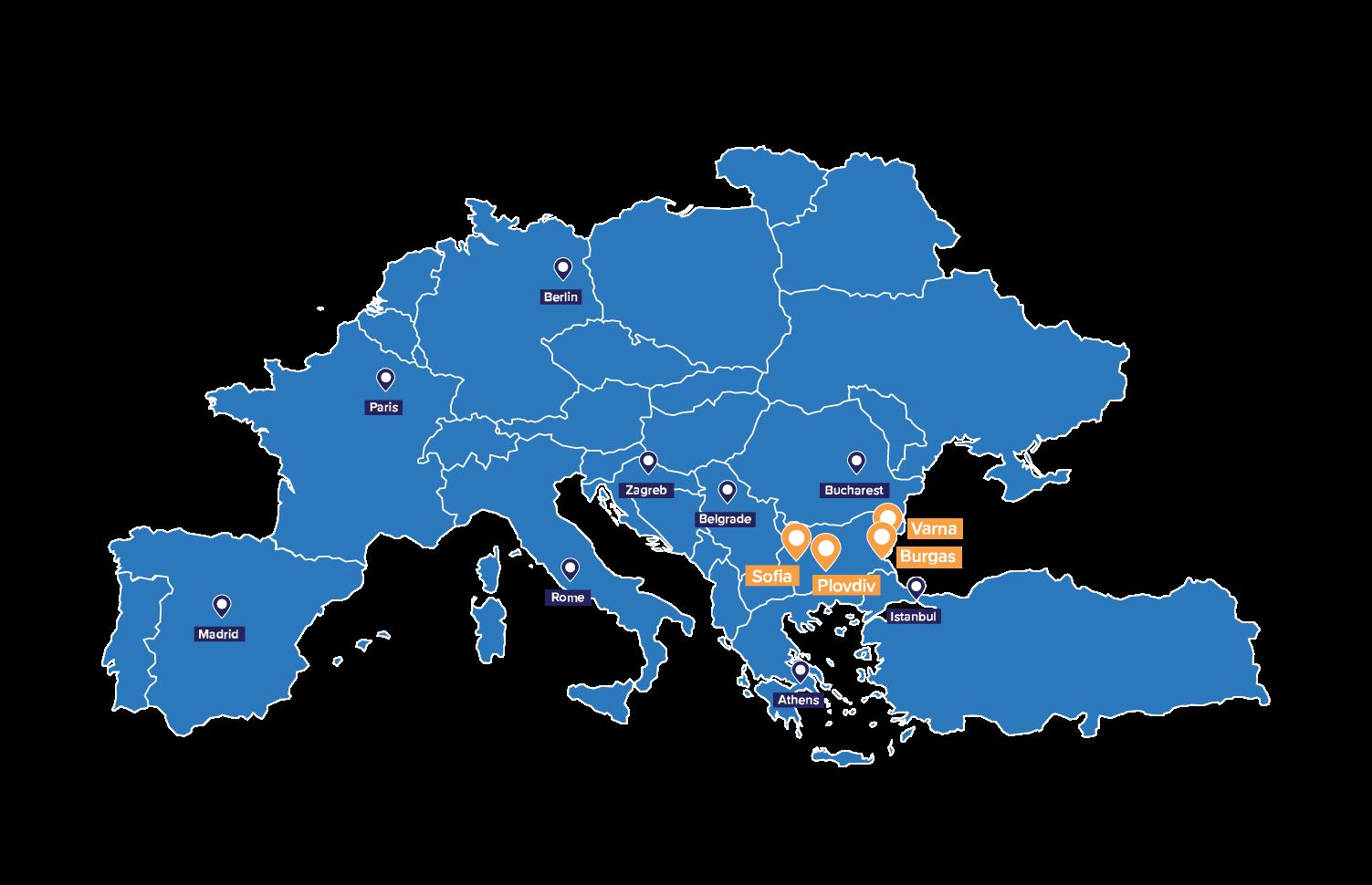 Europe map website